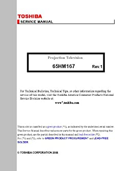 toshiba 65hm167 service manual toshiba 0912345651673 amazon com rh amazon com 65HM167 Light Engine Toshiba 65HM167 Problems
