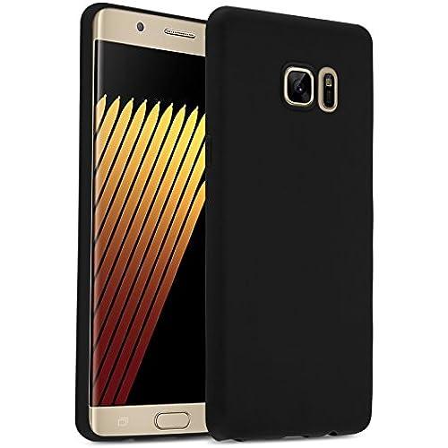 Galaxy S7 Edge Case, JAMMYLIZARD Ultra Slim Silicone Jelly Colored Back Cover, Black Sales
