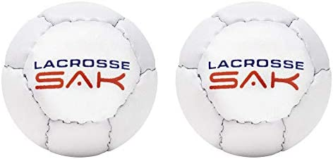 Lax Sak 1 Pack White Lacrosse Training Ball Great for Indoor /& Outdoor Practice Same Weight /& Size as a Regulation Lacrosse Ball Less Bounce /& Minimal Rebounds.