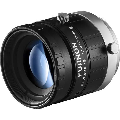 Fujinon HF12.5HA-1S 2/3'' 12.5mm F1.4 Manual Iris C-Mount Lens, 1.5 Megapixel Rated, Anti-Shock & Vibration Feature