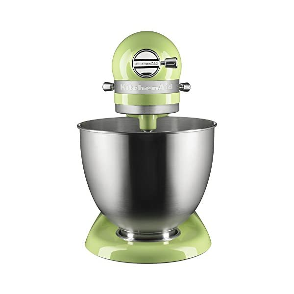 KitchenAid KSM3311XHW Artisan Mini Series Tilt-Head Stand Mixer, 3.5 quart, Honeydew 2