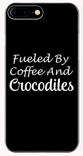 (Fueled by Coffee and Crocodiles - Alligator Gift idea - Reptile Design - Saltwater - Phone Case for iPhone 6+, 6S+, 7+, 8+)