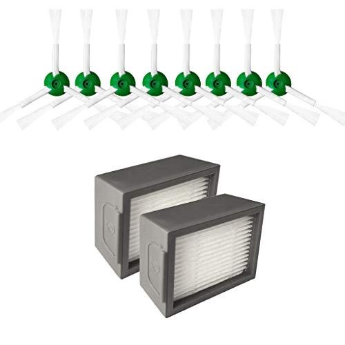 Price comparison product image Iusun Side Brush&Hepa Filters&Bristle Brush Series Kits Percolator Replacement Accessories Parts for iRobot Roomba i7 i7+ / i7 Plus E5 E6 E7 Vacuum Cleaner Set (F-Bristle Brushes Kits)