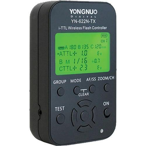 Price comparison product image Yongnuo YN-622N-TX LCD Wireless i-TTL Flash Controller Trigger for Nikon Camera