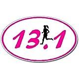 13.1 Marathon GIRL Runner Euro Oval Car Decal / Sticker