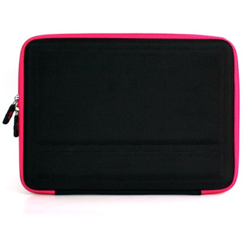Kroo Apple iPad3 Black/Magenta EVA Case Get Free iPad USB Data Cable