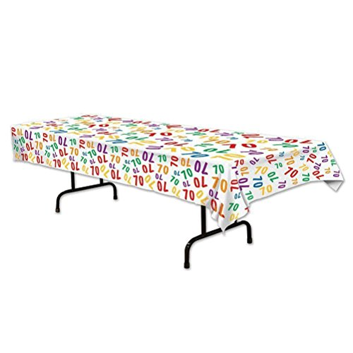 Beistle 70 Tablecover, 54 by 108-Inch, Multicolor]()