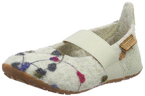 Bisgaard Mädchen Wool Ballet Slipper Weiß (171 Creme-flowers)