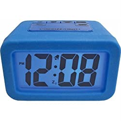 Geneva Advance Time 1.25 Silicone LCD Alarm Clock Color: Blue