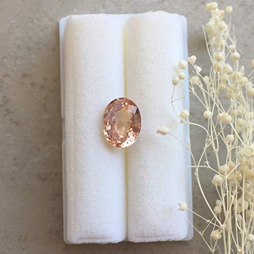 - Oval Padparadscha Sapphire - 9.36 x 7.27mm, 4.56mm deep Oval shape Natural Pinkish Orange Sapphire, 2.57 carats - LSG1318