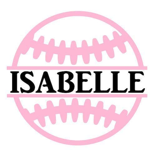(Personalized Softball Name Decal Sticker for Yeti Cups, Tumblers, Laptops, Car Windows)