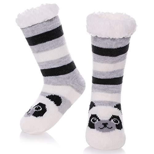 LANLEO Boys Girls Cute Animal Slipper Socks Fuzzy