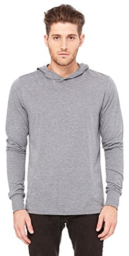 Bella+Canvas 3512 - Unisex Long Sleeve Jersey Hooded (Crossover Jersey Tee)