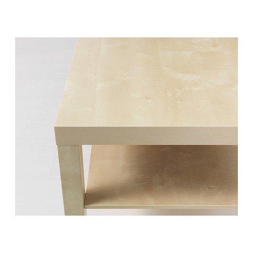 Ikea MANQUE Table basse 90x55 cm effet bouleau