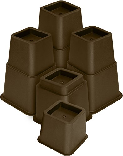 (Utopia Bedding Adjustable Bed Furniture Risers - 3, 5 or 8 Inch Heavy Duty Risers for Sofa, Table, and Chair - 8 Piece Set)