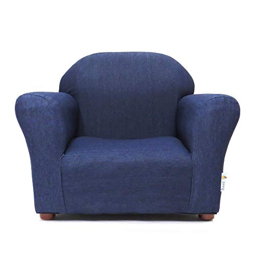 KEET Roundy Kid's Chair Denim, Blue (Pottery Couch Barn Sale)