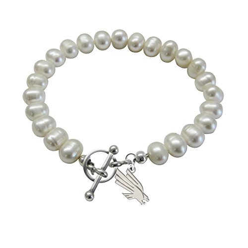 University of North Texas Mean Green Eagles Freshwater Pearl Charm -