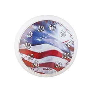 """Taylor 672913–1/4""""La bandera americana termómetro"""