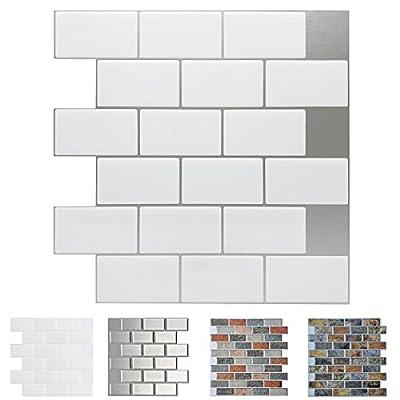 Art3d Peel and Stick Backsplash Tiles for Kitchen, Stick on Wall Tiles Shelf-Adhesive Wall Stickers, Subway Tiles