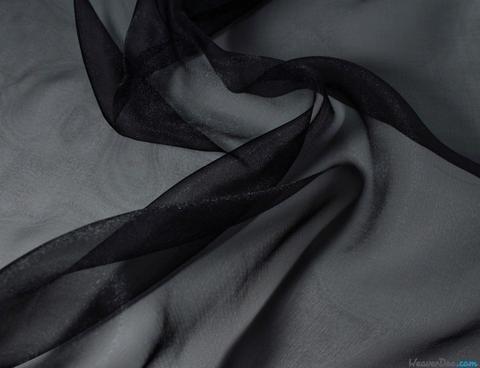(Sale~Black China Silk Organza 44 Wide Hobbies,Home Decor,Sewing,Fashion,Doll)