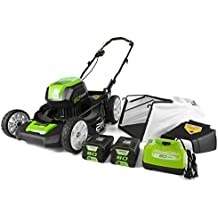 GreenWorks Pro GLM801601 80V 21-Inch Cordless Lawn Mower, (2) 2AH Batteries and a Charger Included