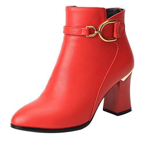 Mavirs Womens Magob Block Heel Ankle-high 7.5 cm B(M) Boots, Synthetic, 7.5 B(M) cm US B07GLR377V Shoes b2fb97