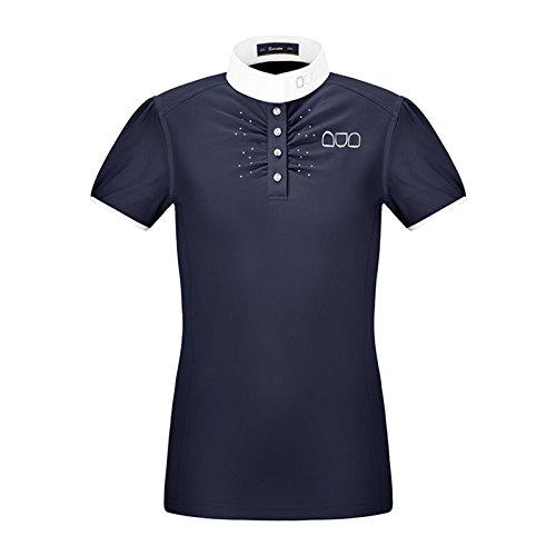 Cavallo Ragazzi Maglietta da Competizione Katara Slim, Blu Scuro, 32