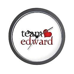 CafePress - Team Edward Wall Clock - Unique Decorative 10 Wall Clock