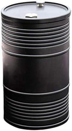 ACAMPTAR 車の金属灰皿ポータブル無煙缶スモークカップホルダー自動車アクセサリー 灰シリンダーゴミ ブラック