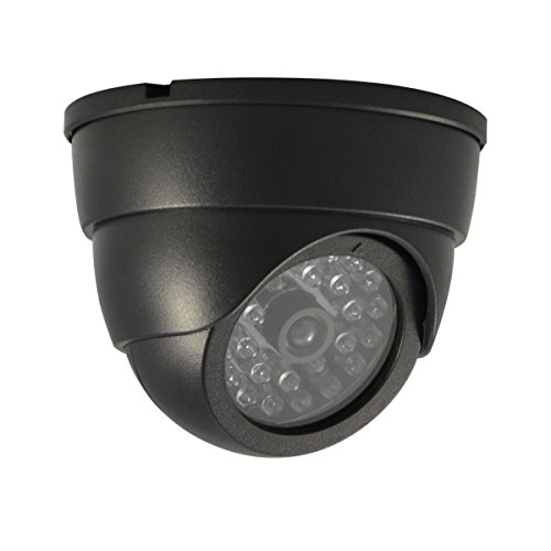 Dummy Dome Camera for Indoor. Operates with Batteries, ABS Material
