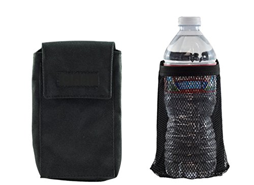 - Clakit Pocket and Water Bottle StrapPack Bundle (Black) - Backpack Attachment for Hikers, Travelers, Commuters and Students