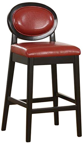 Excellent Armen Living Martini Stationary Leather Barstool With Black Legs 26 Inch Red Dailytribune Chair Design For Home Dailytribuneorg