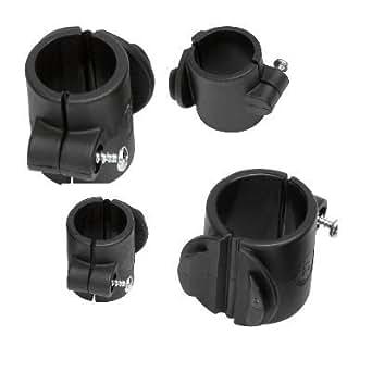 Activera Toolflex - Set de abrazaderas de tubo para sillas de ruedas, carros de limpieza etc. (19, 22, 25 y 27 mm)
