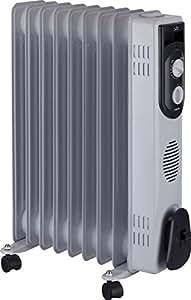 Jata R109 Radiador de aceite con 9 elementos caloríficos 2000 W, Blanco