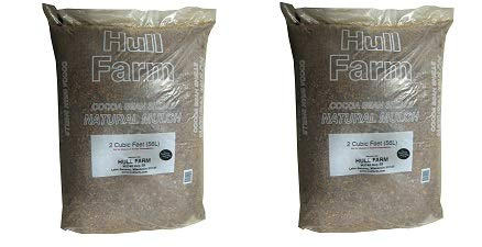 - Hull Farm 50150 Cocoa Bean Shell Mulch, 2 Cubic Feet (2-(Pack))