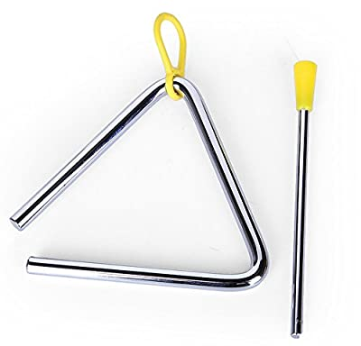 "yueton 5"" Musical Steel Triangle with Striker"