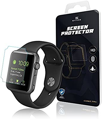 EXINOZ® Apple Watch Protector para Pantalla 1 año de garantía de ...