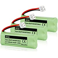 3-Pack iMah Ryme B5 Rechargeable Cordless Phone Battery for BT-18443 BT-28443 89-1337-00-00 VTech LS-6115 LS-6117 LS-6125 LS6126 LS6225 Wireless Home Handset Telephone