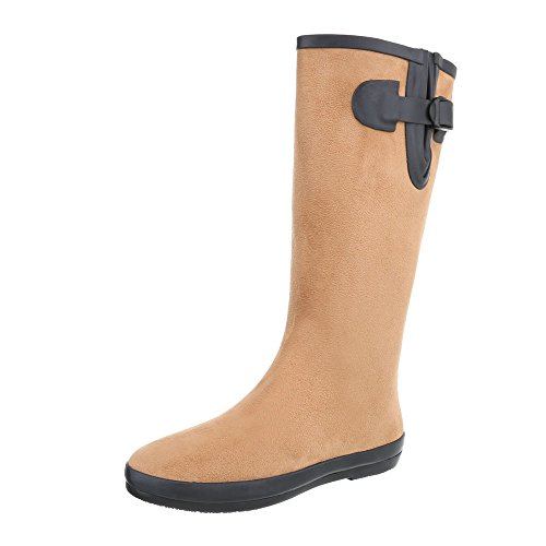 Ital-Design Women's Rubber Boots Light Brown NMhTXSv