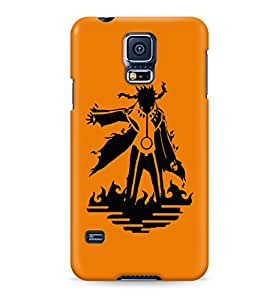 Naruto Fox Chakra Hard Plastic Snap-On Case Skin Cover For Samsung Galaxy S5