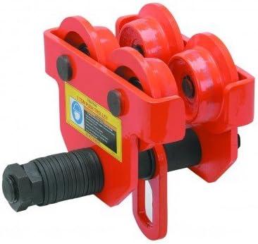 "B006ZB8UIM 1 Ton Push Beam Trolley Adjustable for I-beam flange width: 2-11/16"" to 5-1/8"" 41wok753BiL"