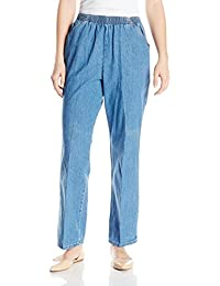 Women's Cotton Pull-on Pant with Elastic Waist