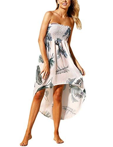Color Mujeres Blanco en Shoulder Off de Estampado con Playa Apagado Floral Vestido Negro Lrud Bohemio Blanco P6RqwP