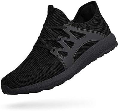 Feetmat Men Sneakers Mesh Lightweight Slip On Tennis Running Gym Walking Shoes Black Size: 6.5