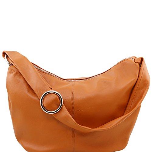 Tuscany Leather - Yvette - Bolso en piel para mujer- modelo grande Cognac - TL140900/6 Cognac