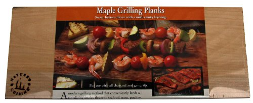Nature's Cuisine NC007-3 14 by 5-1/2-Inch Maple Outdoor Grilling Plank, 3-Pack