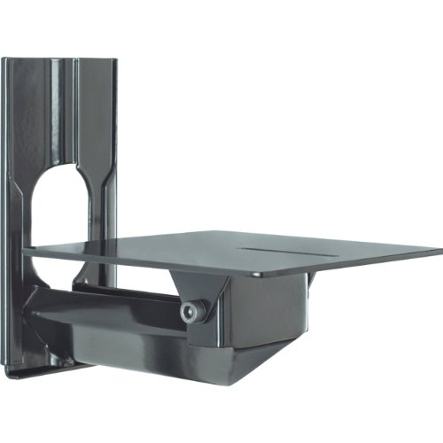 Avteq CS-1G-LS Wall Mounted Camera Shelf For Use With Lifesize Cameras, Mounts To Either A Single Gang Cutout Wall Box Or Straight To The Wall, 5 Degree Tilt on Camera Platform, Gloss Black Finish