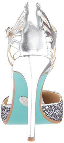 Blue by Betsey Johnson Women's Sb-Avery Heeled Sandal Silver/Metallic tuwBAk7n