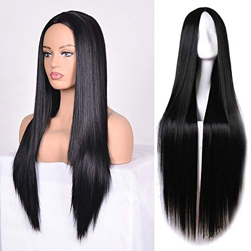 (Diy-Wig Long Black Wig 30