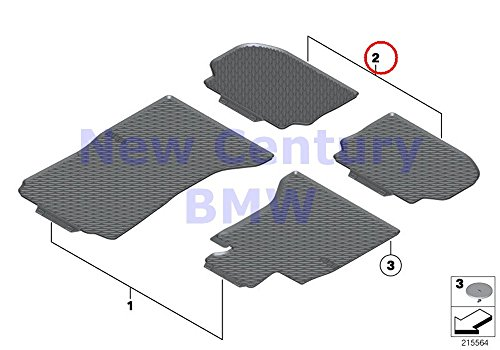 BMW Genuine All-Weather Floor Mats Rear All-Weather Floor Ma